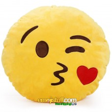 Blowing a Kiss Emoji Pillow