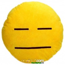 Neutral Face Emoji Pillow