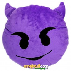 Purple Devil Emoji Pillow