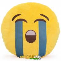 Sobbing Face Emoji Pillow