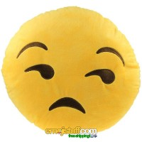 Unamused / Look of Disapproval / Frown Emoji Pillow