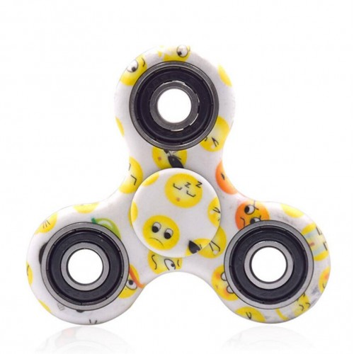 Ausmalbilder Fidget Spinner: Emoji Fidget Spinner