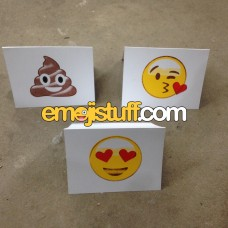 Silkscreened Emoji Greeting Cards