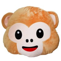 Monkey Face Emoji Pillow