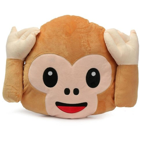 Monkey Covering Ears Hear No Evil Monkey Emoji Pillow Magnificent Monkey Covering Eyes Emoji Pillow