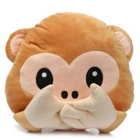 Monkey Covering Mouth / Speak No Evil Monkey Emoji Pillow